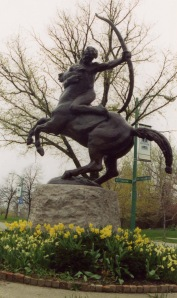The Centaur statue in front of the museum was donated in 1953.