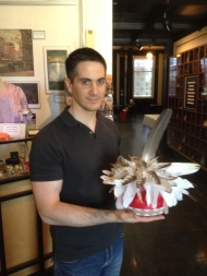 Tony Greco with ceremonial headress
